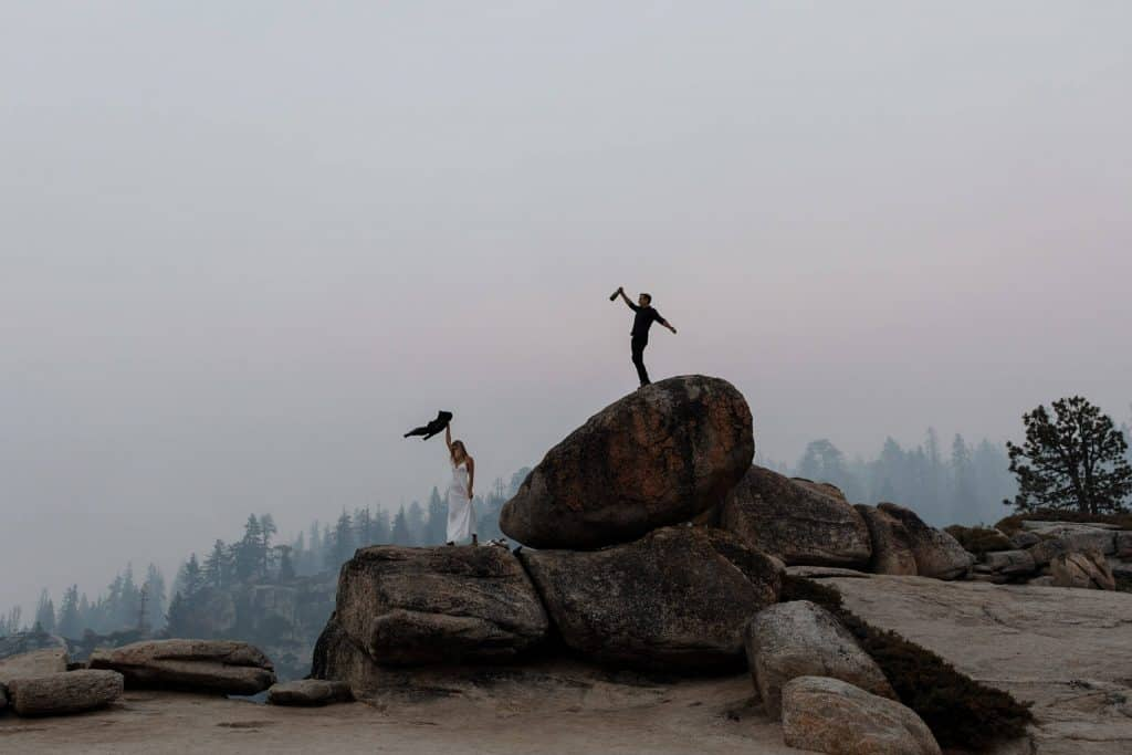 Yosemite engagement photos at Taft Point