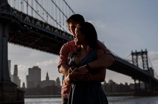 new york skyline and brooklyn engagement photography 0001