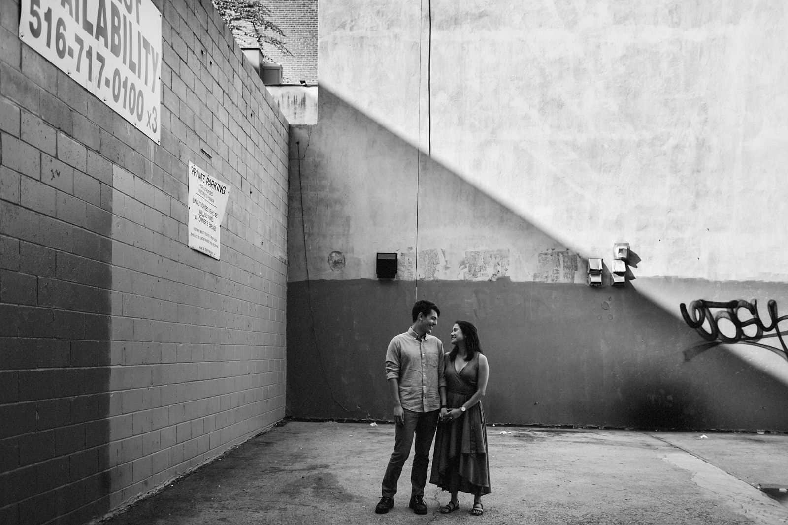 new york skyline and brooklyn engagement photography 0005
