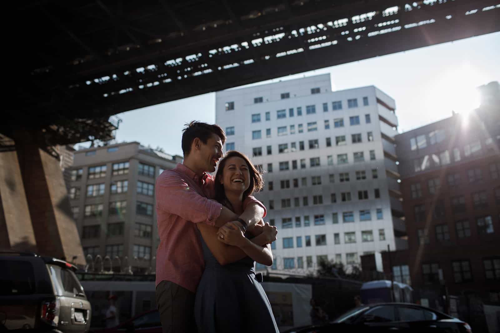 new york skyline and brooklyn engagement photography 0011