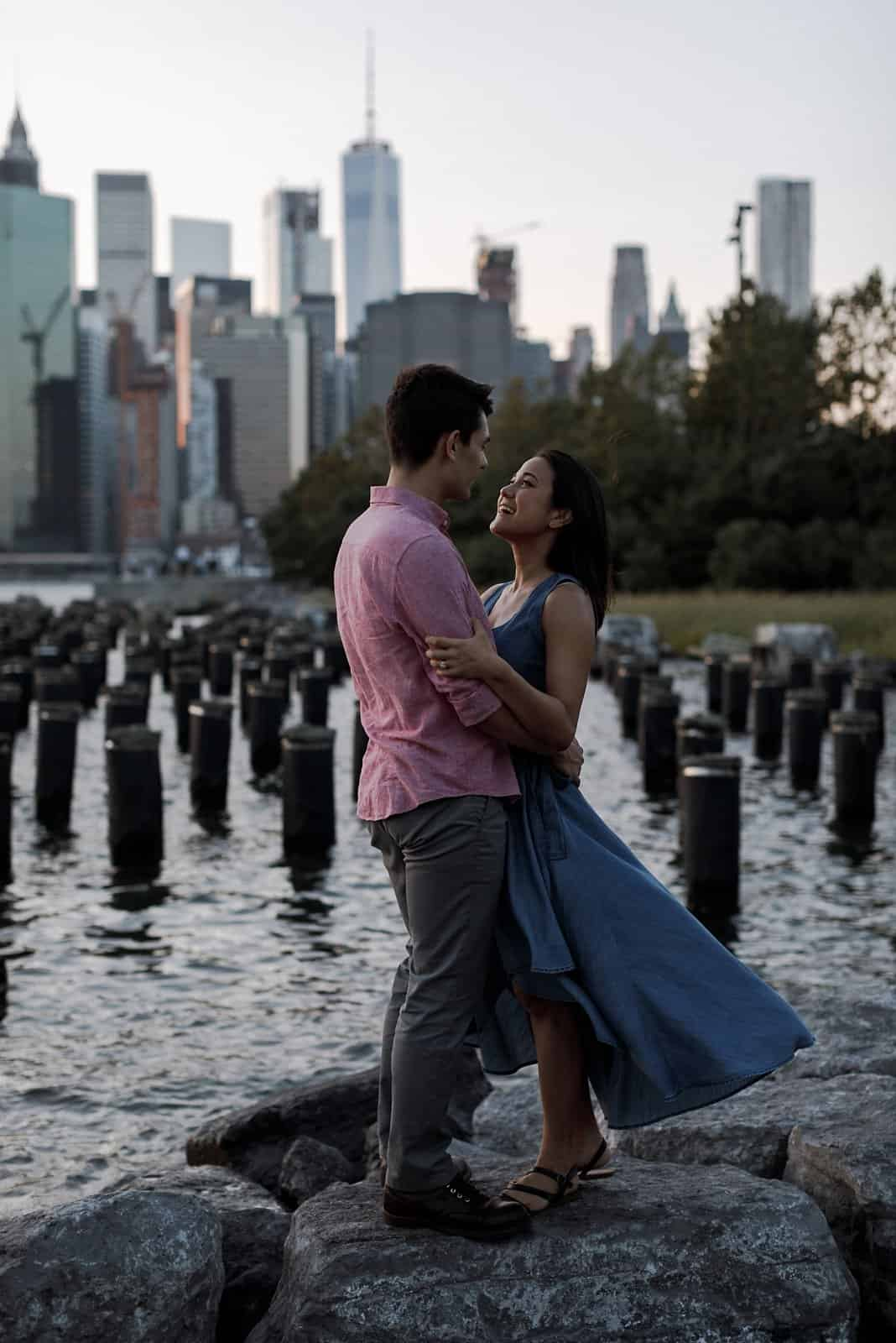 new york skyline and brooklyn engagement photography 0021