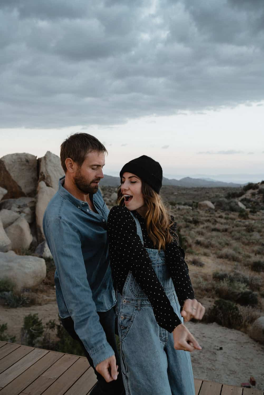 Blue Hour Joshua Tree Engagement Photos-13