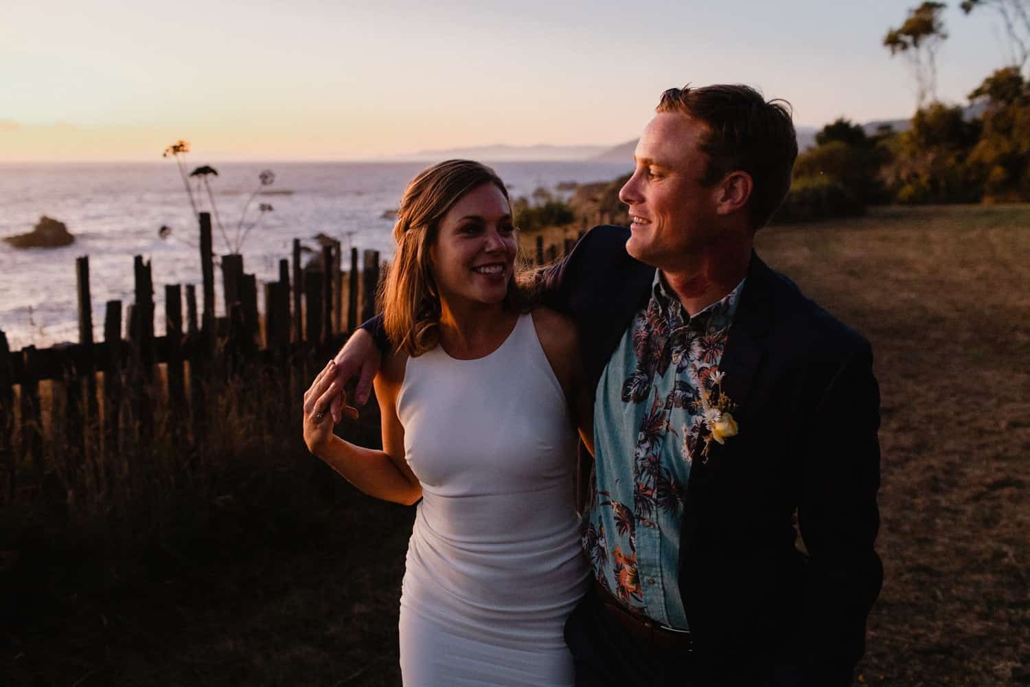 Golden Hour Mendocino Wedding Photos-7