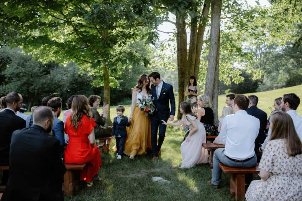 Intimate Backyard New Hampshire Wedding