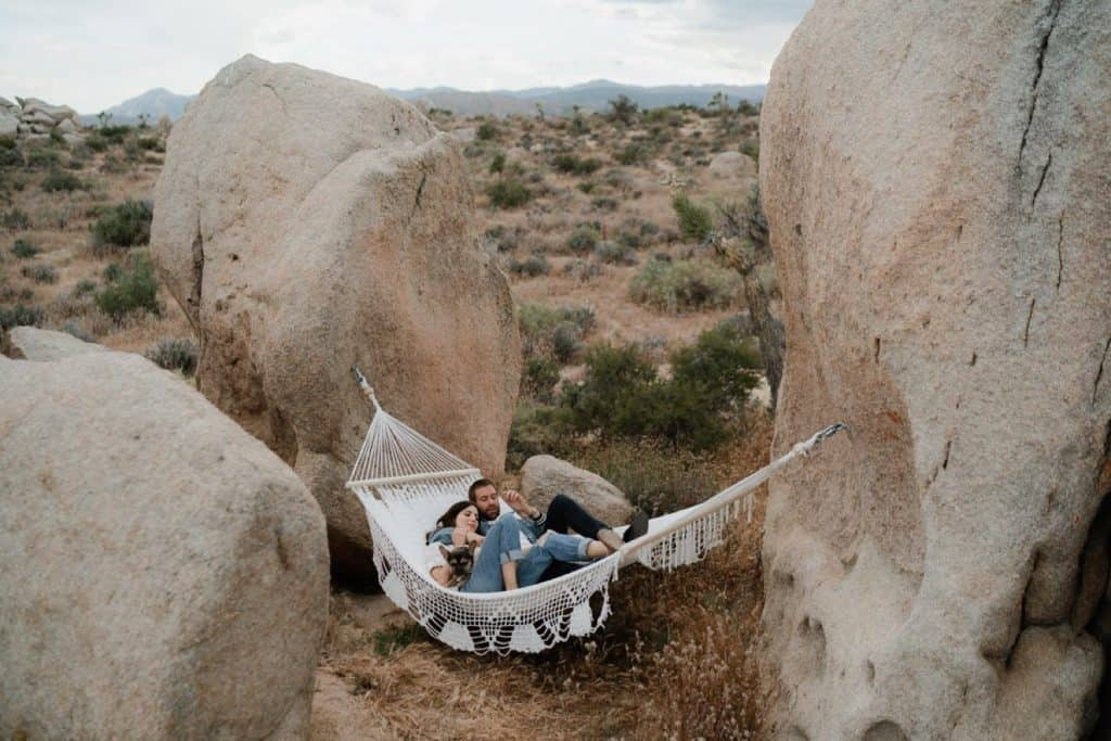 Lifestyle Relaxed Pioneertown Couple Session