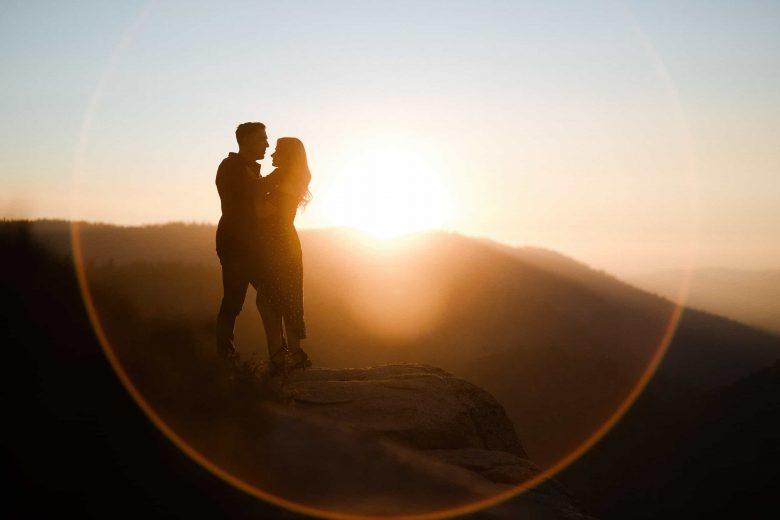 Yosemite Taft Point Best Engagement photos at sunset
