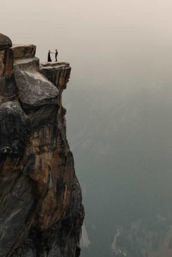 Incredible Taft Point Yosemite Engagement Photos