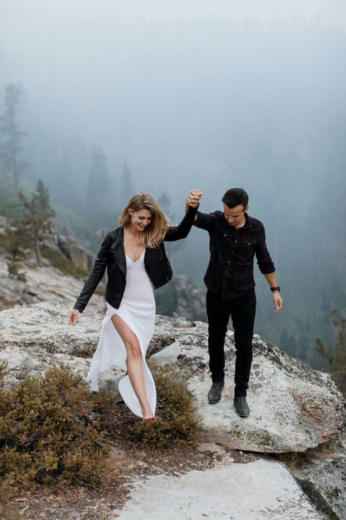 Incredible Taft Point Yosemite Engagement Photos