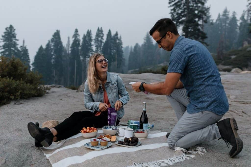 Incredible Glacier Point Yosemite Engagement Photos