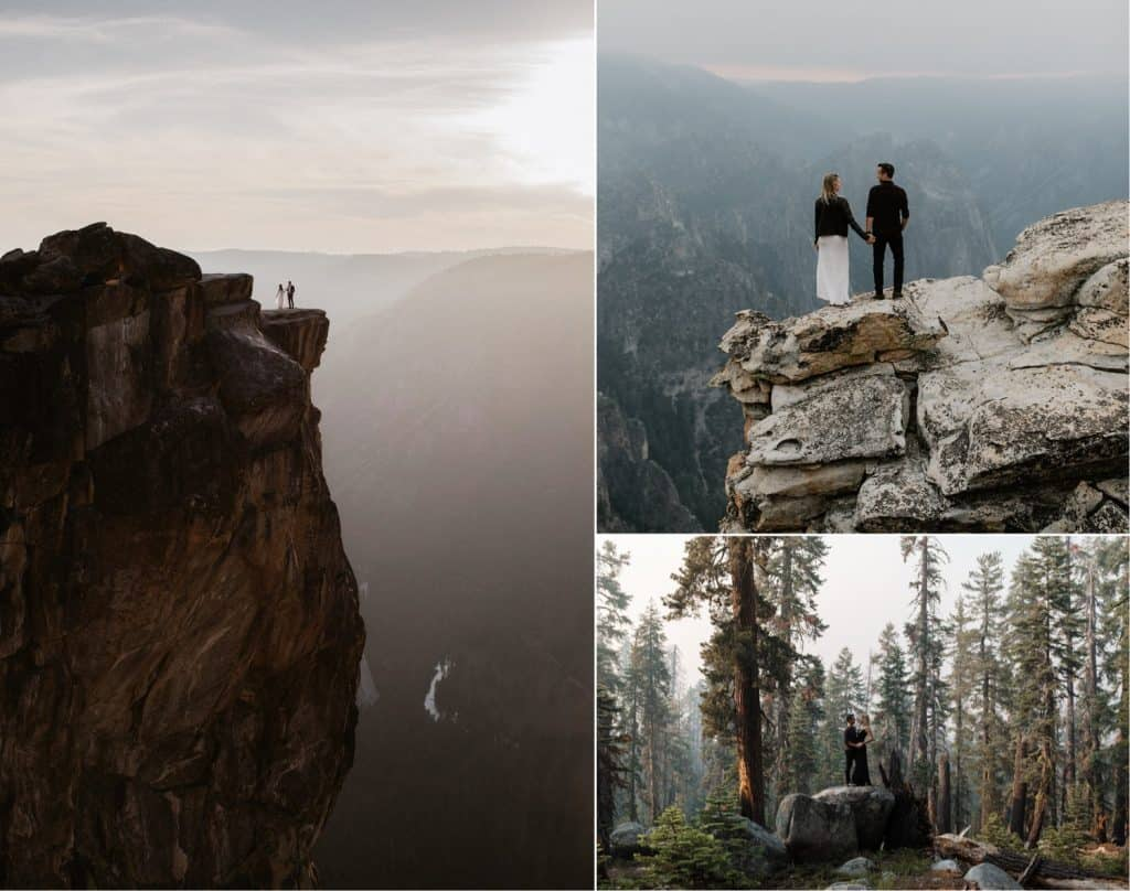 Yosemite Wedding Photographer | Taft Point Adventure Couple Session