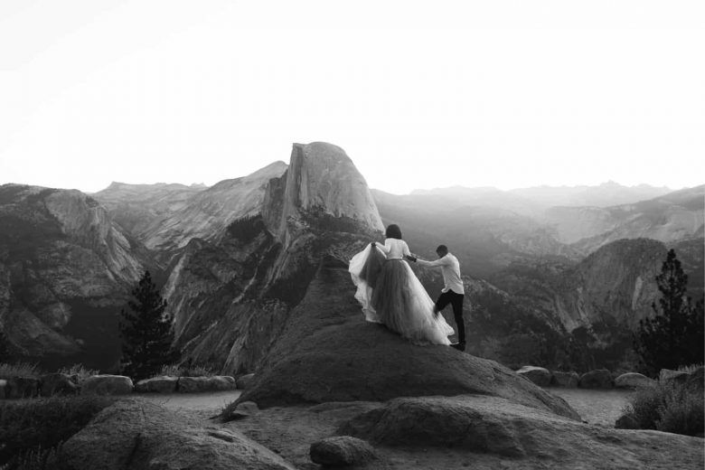 Yosemite Wedding Photographer   Glacier Point Elopement Photographer