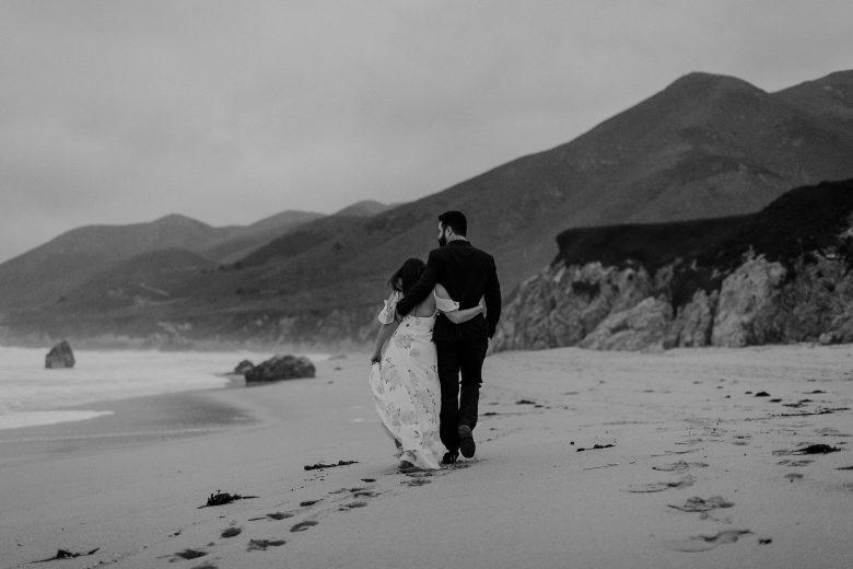 Big Sur beach engagement session