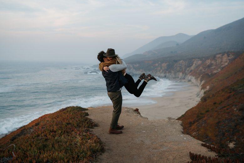Big Sur sunset engagement session