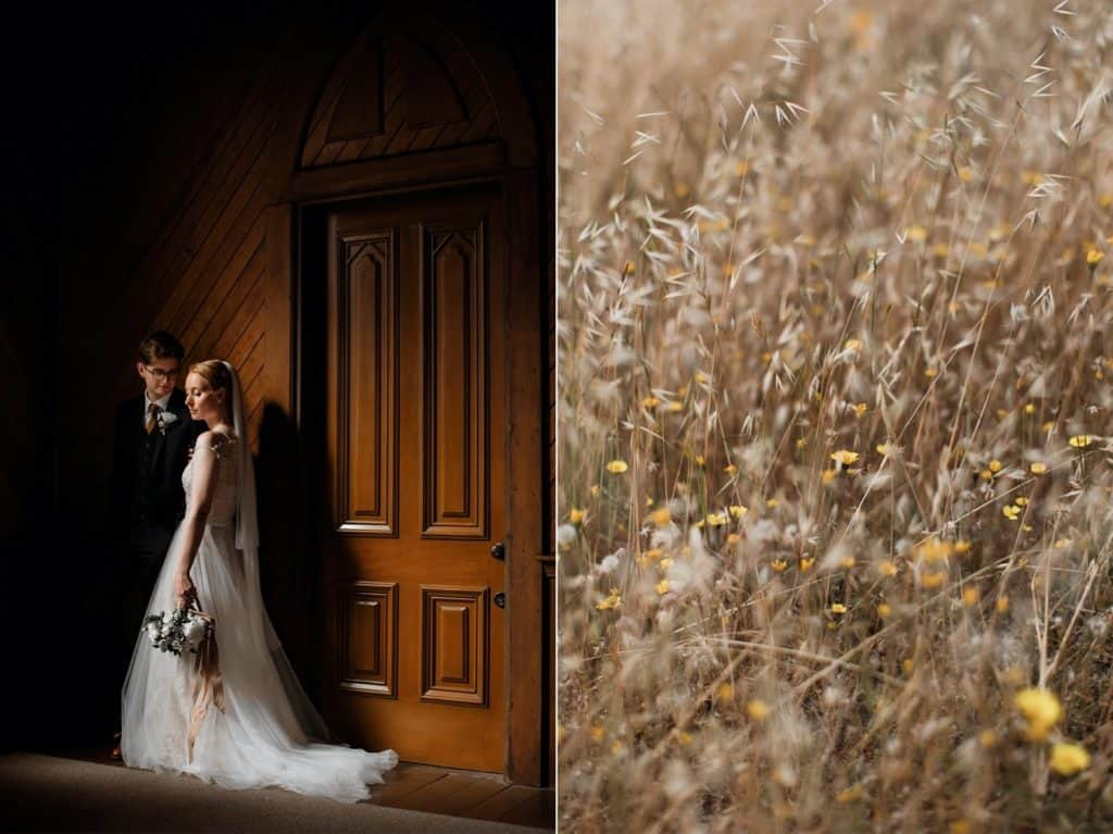 Intimate Old St. Hilary's Chapel Wedding in Mill Valley