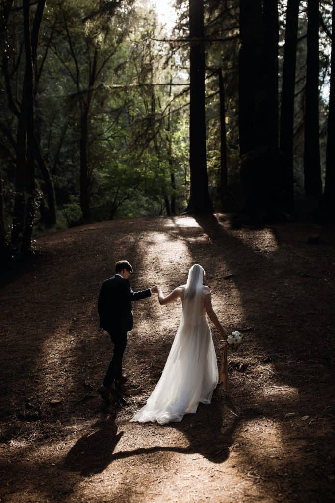 Intimate Outdoor Art Club Wedding Mill Valley