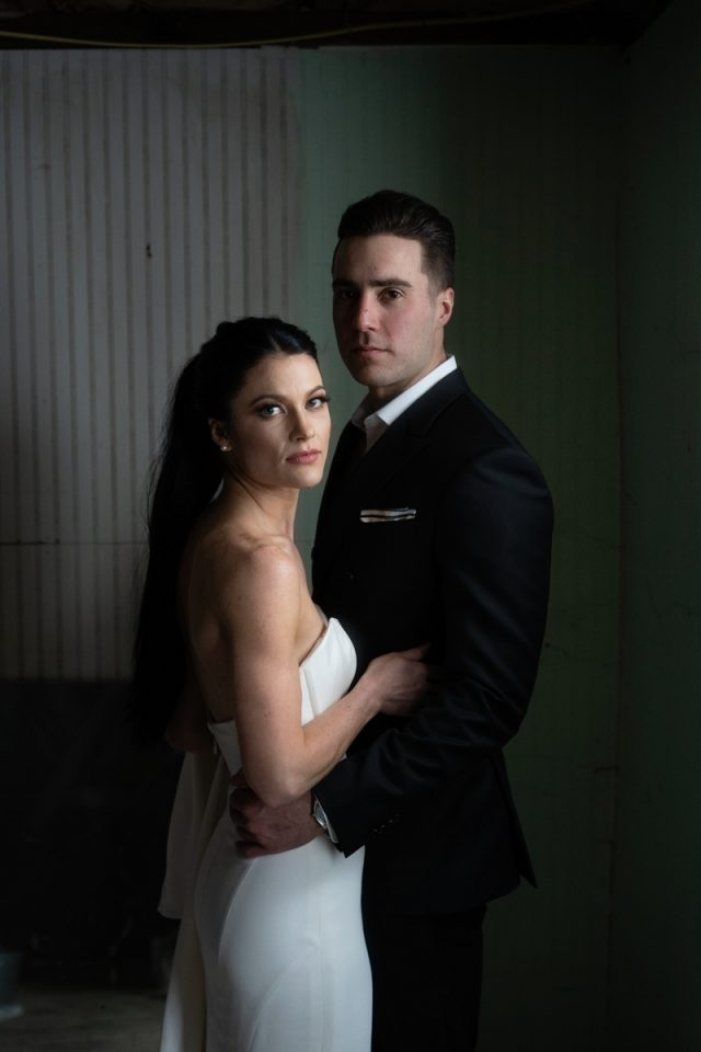 Couple portrait on their elopement day