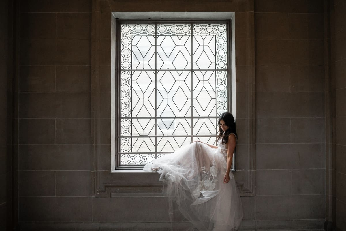 San Francisco City Hall Elopement Bridal Portrait