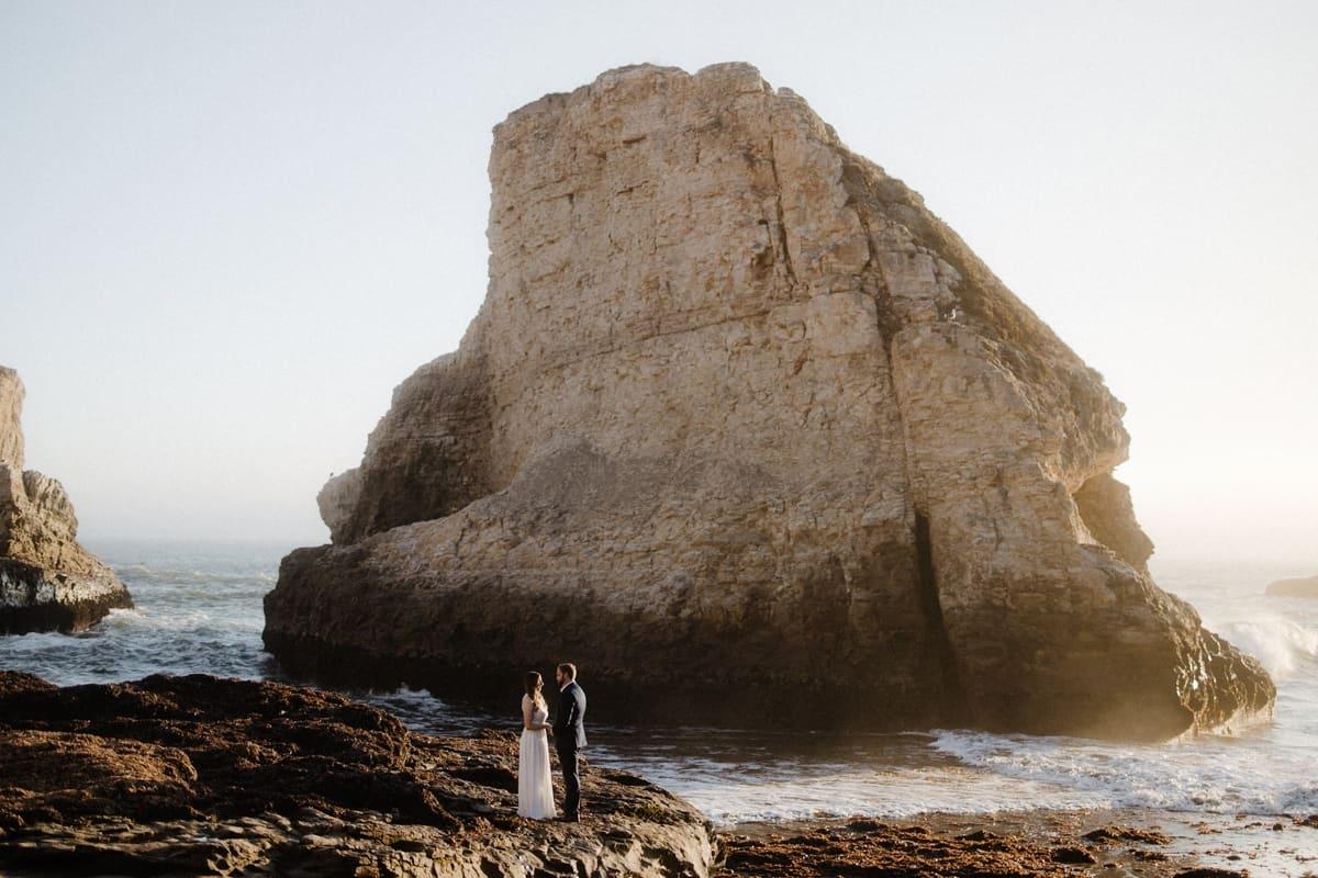 Santa Cruz ceremony elopement near the ocean