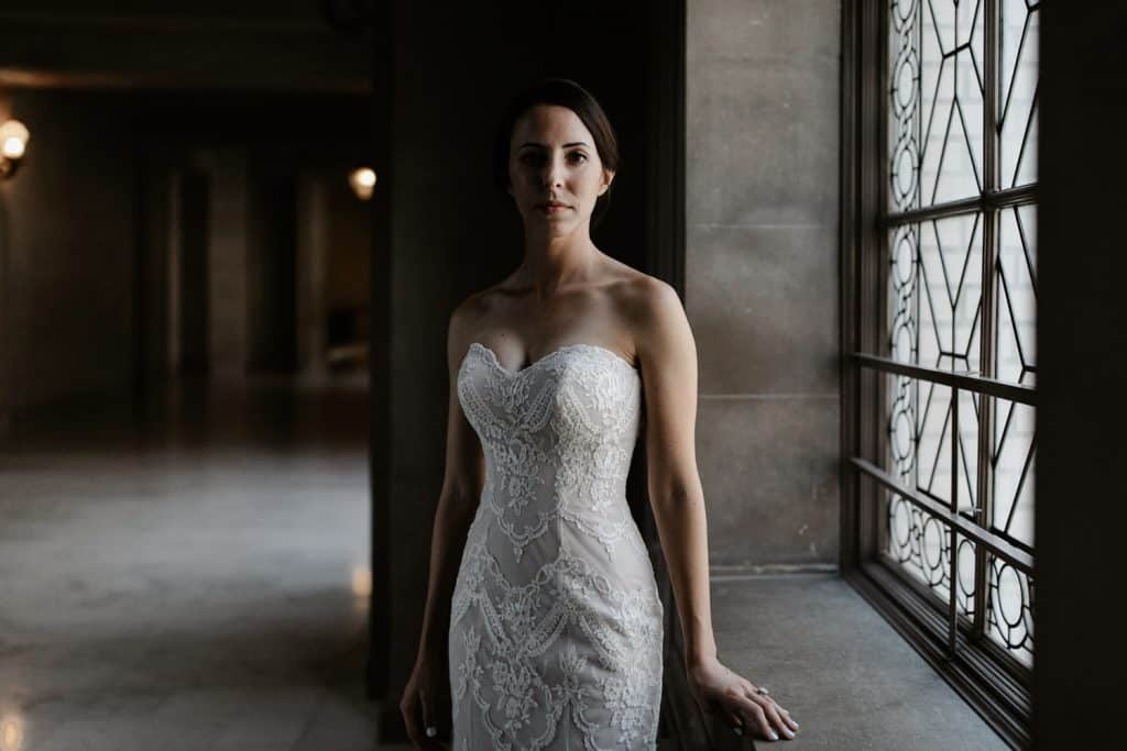 san francisco city hall elopement - bride portrait