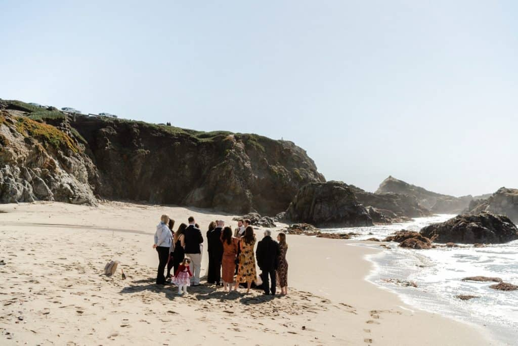 Bodega Bay intimate wedding on the beach