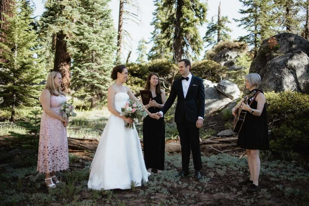 Yosemite micro wedding ceremony