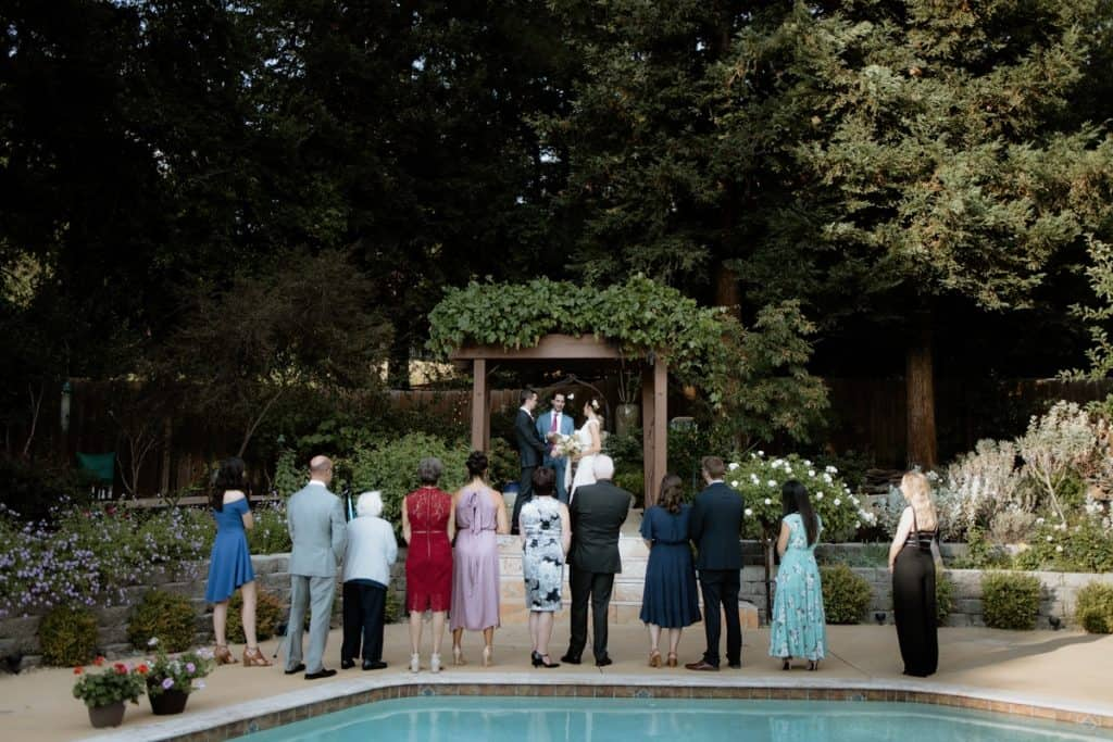 Bay Area micro wedding ceremony