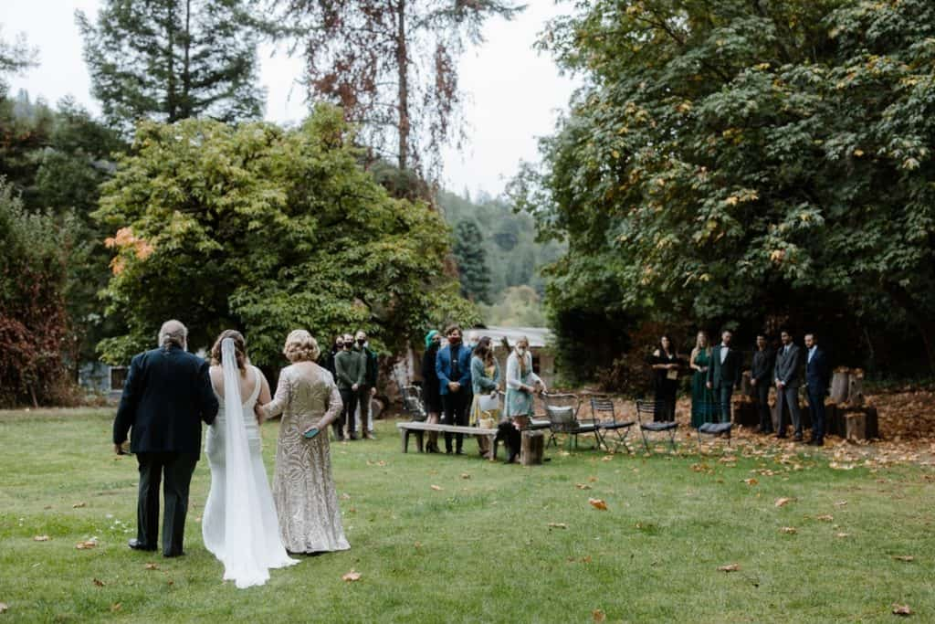 Ceremony at Casa Sabor Mexicano farm in Mendocino