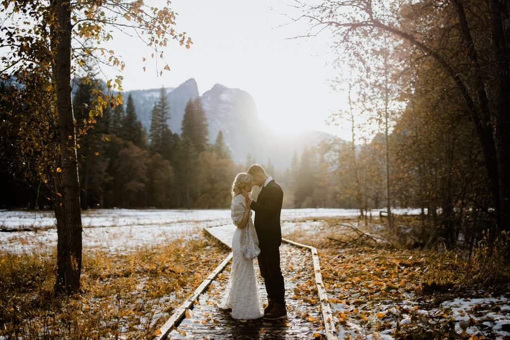 Yosemite Best Elopement Photos at Sunet